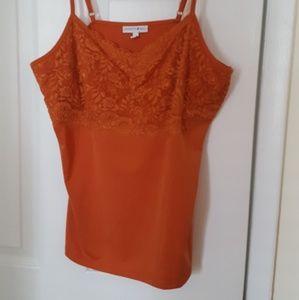 Fashion Bug orange camisole size large